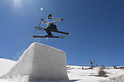 19.03.2017, Ski Stadium, Sierra Nevada, ESP, FIS Freestyle Ski and Snowboard WM, Sierra Nevada 2017, Slope Style Ski, im Bild James Woods (GB) on his way to winning the bronze medal during the Men's Slope Style Ski Final // James Woods (GB) on his way to winning the bronze medal during the Men's Slope Style Ski Final of the FIS Freestyle Ski & Snowboard World Championships 2017 at the Ski Stadium in Sierra Nevada, Spain on 2017/03/19. EXPA Pictures © 2017, PhotoCredit: EXPA/ Focus Images/ Kristian Kane<br /> <br /> *****ATTENTION - for AUT, GER, FRA, ITA, SUI, POL, CRO, SLO only*****