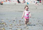 01/07/2014 Naoise Dillon 18 moths from  Oranmore enjoying the sunshine in Salthill Galway. Photo:Andrew Downes