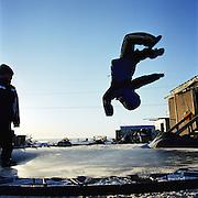 Children playing in Kivalina, Alaska. 2007