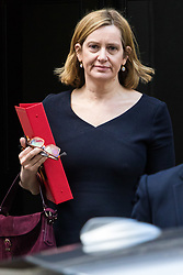 London, January 16 2018. Home Secretary Amber Rudd leaves the UK cabinet meeting at Downing Street. © Paul Davey