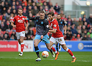 Sheffield Wednesday midfielder Aiden McGeady (37) with a shot on goal during the Sky Bet Championship match between Bristol City and Sheffield Wednesday at Ashton Gate, Bristol, England on 9 April 2016. Photo by Adam Rivers.