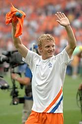 16-06-2006 VOETBAL: FIFA WORLD CUP: NEDERLAND - IVOORKUST: STUTTGART <br /> Oranje won in Stuttgart ook de tweede groepswedstrijd. Nederland versloeg Ivoorkust met 2-1 / Dirk Kuyt<br /> ©2006-WWW.FOTOHOOGENDOORN.NL
