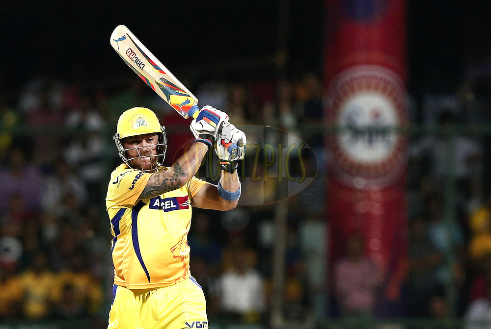 Brendon McCullum of The Chennai Superkings during match 26 of the Pepsi Indian Premier League Season 2014 between the Delhi Daredevils and the Chennai Superkings held at the Ferozeshah Kotla cricket stadium, Delhi, India on the 5th May  2014<br /> <br /> Photo by Deepak Malik / IPL / SPORTZPICS<br /> <br /> <br /> <br /> Image use subject to terms and conditions which can be found here:  http://sportzpics.photoshelter.com/gallery/Pepsi-IPL-Image-terms-and-conditions/G00004VW1IVJ.gB0/C0000TScjhBM6ikg