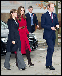 British and Danish Royal Family's meeting for the first time. Prince William and Kate with the Crown Prince Frederik and his wife Mary at the UNICEF Supply Division Copehagen. The Royal family's were helping to distribute emergency food and medical supplies to East Africa, Wednesday November 2, 2011. Photo By i-Images