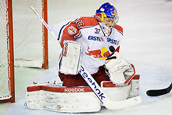 02.11.2012, Hala Tivoli, Ljubljana, SLO, EBEL, HDD Telemach Olimpija Ljubljana vs EC Red Bull Salzburg, 18. Runde, in picture Luka Gracnar (EC Red Bull Salzburg, #33) during the Erste Bank Icehockey League 18th Round match between HDD Telemach Olimpija Ljubljana and EC Red Bull Salzburg at the Hala Tivoli, Ljubljana, Slovenia on 2012/11/02. (Photo By Matic Klansek Velej / Sportida)