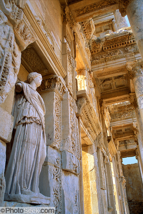 "Ephesus, Turkey: the Library of Celsus, built in 114 AD, was named in honor of a Roman .governor of Asia Minor (Anatolia). The nearby goddess sanctuary helped Ephesus become a prosperous port and cultural center by 600 BCE. At various times, Ephesus was controlled by Lydia (King Croesus), Persians, Hellenists (Ancient Greeks from Athens), Alexander the Great (334 BC), and eventually it became capital (population 250,000) of the Roman Province of Asia Minor. Published in the travel handbook ""Moon Istanbul & the Turkish Coast"" by Jessica Tamtürk, Avalon Travel Publishing, 2010. Published in ""Light Travel: Photography on the Go"" book by Tom Dempsey 2009, 2010. test"