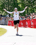 Roger Crowley/Times Argus.Michael Wardian took second place (unofficial time 2:23:20) for the fourth consecutive year at the 20th Annual Keybank Vermont City Marathon in Burlington Sunday.
