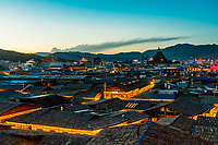 Rooftops of the Old Town, Shangri La (Zhongdian), Yunnan Province, China.