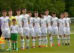 Republic of Ireland at the start of the U16 Uefa development tournament at United Park Westport.<br /> Pic Conor McKeown