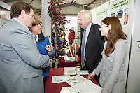 "Prof Gerry Boyle Teagasc and Minister for Horticulture at the Department of Agriculture, Food and the Marine, Shane McEntee TD, visits the Teagasc stands at Sheep 2012 ""The Way Forward""  at Teagasc, Mellows Campus, Athenry, Co. Galway Photo: Andrew Downes.."