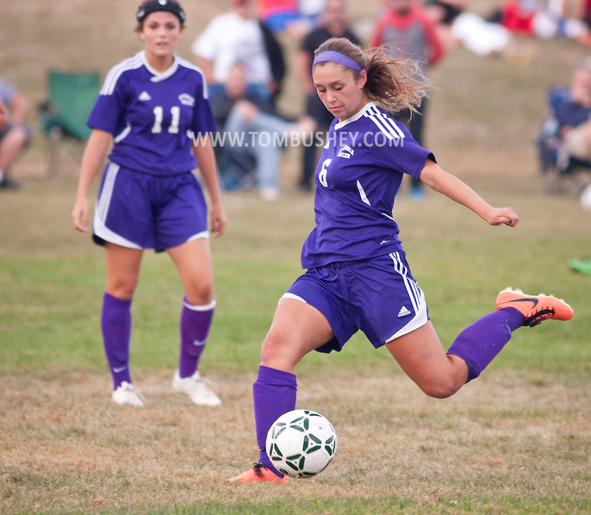 New Windsor, New York -  Monroe-Woodbury High School plays Cornwall High School in a girls' varsitiy soccer game on Sept. 24, 2014.