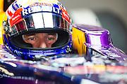 February 21, 2013 - Barcelona Spain. Mark Webber, Red Bull Racing during pre-season testing from Circuit de Catalunya.