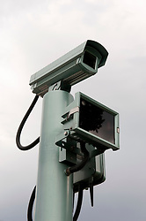 Detail of  closed circuit television cctv camera