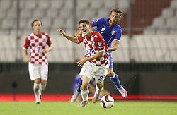 12.06.2015, Stadion Poljud, Split, CRO, UEFA Euro 2016 Qualifikation, Kroatien vs Italien, Gruppe H, im Bild Mateo Kovacic, Claudio Marchisio // during the UEFA EURO 2016 qualifier group H match between Croatia and and Italy at the Stadion Poljud in Split, Croatia on 2015/06/12. EXPA Pictures © 2015, PhotoCredit: EXPA/ Pixsell/ Igor Kralj<br /> <br /> *****ATTENTION - for AUT, SLO, SUI, SWE, ITA, FRA only*****