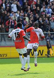 16-05-2010 VOETBAL: FC UTRECHT - RODA JC: UTRECHT<br /> FC Utrecht verslaat Roda in de finale van de Play-offs met 4-1 en gaat Europa in / Jacob Mulenga scoort de 3-1 en Nana Asare<br /> ©2010-WWW.FOTOHOOGENDOORN.NL