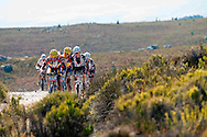 GORDON'S BAY, SOUTH AFRICA - African category leaders Kevin Evans and David George of MTN lead Matthias and Lukas Fluckiger of Trek World Racing during stage one of the Absa Cape Epic Mountain Bike Stage Race held between Gordon's Bay and Villiersdorp on the 22 March 2009 in the Western Cape, South Africa..Photo by Gary Perkin   /SPORTZPICS