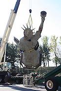 Brooklyn Museum Statue of Liberty Replica Installation Nov 1 2005