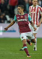 Football - 2016 / 2017 Premier League - West Ham United vs. Stoke City<br /> <br /> Manuel Lanzini of West Ham at The London Stadium.<br /> <br /> COLORSPORT/DANIEL BEARHAM