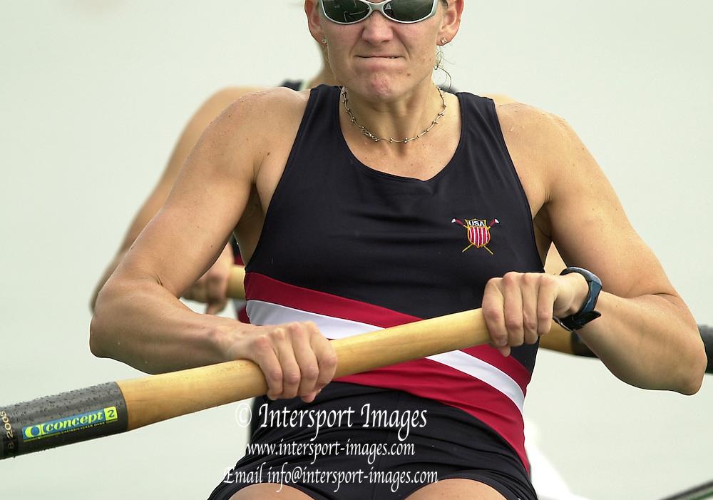 2003 - FISA World Cup Rowing Milan Italy.30/05/2003  - Photo Peter Spurrier.USA W2- (B) Dana Peirce and (S) Jennifer Dore Terhaar [Mandatory Credit: Peter Spurrier:Intersport Images]