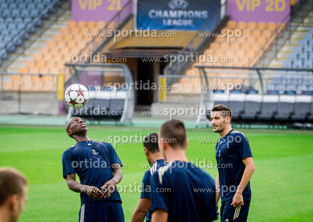 Jean Philippe Mendy #14 of Maribor during practice seasion of football team NK Maribor 1 day before of UEFA Champions League 2013/14 Play-Offs, Second Leg match on August 27, 2013 in Stadium Ljudski vrt, Maribor, Slovenia. (Photo by Vid Ponikvar / Sportida.com)