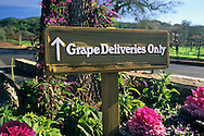 Grape Deliveries sign, Kenwood Winery, Sonoma County, California