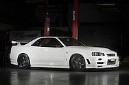 2002 Nissan Skyline BNR34 GTR v Spec II NUR - White.Racepace Motorsport Workshop.Bayswater, Melbourne, Victoria .31st of October 2009.(C) Joel Strickland Photographics.Use information: This image is intended for Editorial use only (e.g. news or commentary, print or electronic). Any commercial or promotional use requires additional clearance.