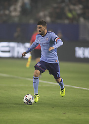 August 12, 2017 - Carson, California, U.S - David Villa #7 of the New York FC with the ball during their MLS game with the Los Angeles Galaxy on Saturday August 12, 2017 at StubHub Center in Carson, California. LA Galaxy loses to New York FC, 2-0. (Credit Image: © Prensa Internacional via ZUMA Wire)