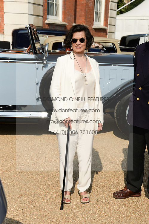 BIANCA JAGGER at the St.James's Concours of Elegance at Marlborough House, London on 5th September 2013.