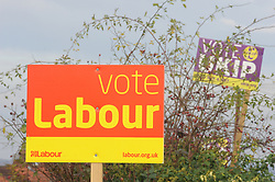 © Licensed to London News Pictures. 18/11/2014<br /> Rochester and Strood By-Election in Kent<br /> Labour banner in Rochester<br /> (Byline:Grant Falvey/LNP)