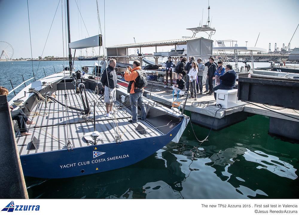 "TP 52 ""Azzurra"" 2015, first sail test in Valencia,Spain,©Jesus renedo/Azzurra"