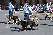Air force personnel marching in 2005 ANZAC day parade, Brisbane