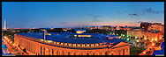 View of Washington, DC including The White House, U.S. Treasury Department and Washington Monument.  Print Size (in inches): 15x5; 24x8; 36x12.5; 48x16.5; 60x21; 72x25