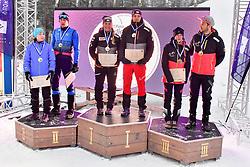 Podium at the 2018 ParaNordic World Cup Vuokatti in Finland