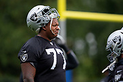 Trent Brown (T) of the Oakland Raiders  during the practice session for Oakland Raiders at the Grove Hotel, Chandlers Cross, United Kingdom on 4 October 2019.