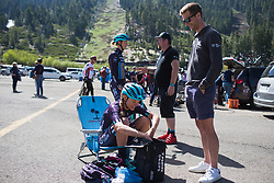 Tayler Wiles (USA)  of Trek-Drops Cycling Team prepares on Stage 2 of the Amgen Tour of California - a 108 km road race, starting and finishing in South Lake Tahoe on May 18, 2018, in California, United States. (Photo by Balint Hamvas/Velofocus.com)