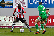 Hiram Boateng (44) of Exeter City on the attack during the EFL Sky Bet League 2 match between Exeter City and Swindon Town at St James' Park, Exeter, England on 24 March 2018. Picture by Graham Hunt.