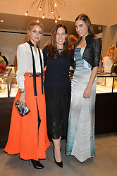 Left to right, OLIVIA PALERMO, MONICA VINADER and AMBER LE BON at a party to celebrate the launch of the Monica Vinader London Flagship store at 71-72 Duke of York Square, London SW3 on 4th December 2014.