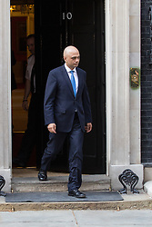 © Licensed to London News Pictures. 09/04/2014. London, UK. Sajid Javid leaves Downing Street, London on 9th April 2014. Photo credit : Vickie Flores/LNP