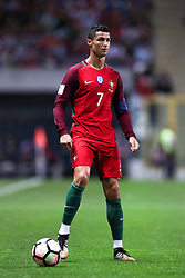 August 31, 2017 - Porto, Porto, Portugal - Portugal's forward Cristiano Ronaldo in action during the FIFA World Cup Russia 2018 qualifier match between Portugal and Faroe Islands at Bessa Sec XXI Stadium on August 31, 2017 in Porto, Portugal. (Credit Image: © Dpi/NurPhoto via ZUMA Press)