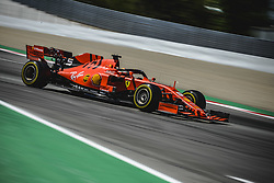 May 12, 2019 - Barcelona, Catalonia, Spain - SEBASTIAN VETTEL (GER) from team Ferrari drives in his SF90 during the Spanish GP at Circuit de Catalunya (Credit Image: © Matthias Oesterle/ZUMA Wire)