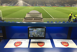 A general view of the seat reserved for Arsenal manager Arsene Wenger in the stands before the Carabao Cup Semi Final, First Leg match at Stamford Bridge, London.