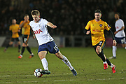 Tottenham Hotspur  Eric Dier (15) on the ball during the The FA Cup 4th round match between Newport County and Tottenham Hotspur at Rodney Parade, Newport, Wales on 27 January 2018. Photo by Gary Learmonth.