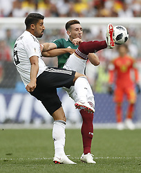 MOSCOW, June 17, 2018  Sami Khedira (L) of Germany competes during a group F match between Germany and Mexico at the 2018 FIFA World Cup in Moscow, Russia, June 17, 2018. (Credit Image: © Cao Can/Xinhua via ZUMA Wire)