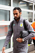 Former Hull City player, now Aston Villa midfielder Ahmed Elmohamady (27) arrives at the KCOM Stadium prior to  the EFL Sky Bet Championship match between Hull City and Aston Villa at the KCOM Stadium, Kingston upon Hull, England on 31 March 2018. Picture by Mick Atkins.