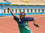 Claudine Bazubagira plays sit ball and is a member of the National Paralympic Committee (NPC). NPC works with disabled people and sport throughout Rwanda, from grass roots to international level, using sport as a means of social integration.