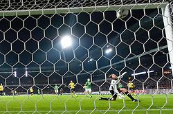 14.10.2011, Weser Stadion, Bremen, GER, 1.FBL, Werder Bremen vs Borussia Dortmund, im Bild.Lattenkracher in der 2. Halbzeit durch Lukas Schmitz (Bremen #13) Roman Weidenfeller (Torwart Dortmund) schaut den Ball mnur noch hinterher.// during the Match GER, 1.FBL, Werder Bremen vs Borussia Dortmund on 2011/10/14,  Weser Stadion, Bremen, Germany..EXPA Pictures © 2011, PhotoCredit: EXPA/ nph/  Kokenge       ****** out of GER / CRO  / BEL ******