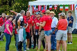 DIBOWSKI Andreas (GER), MELZER Hans (Bundestrainer), JUNG Michael (GER), THOMSEN Peter (GER), KOSCHEL Jürgen (Dressurtrainer)<br /> Luhmühlen - LONGINES FEI Eventing European Championships 2019<br /> Impressionen Zieleinlauf<br /> Geländeritt CCI 4*<br /> Cross country CH-EU-CCI4*-L<br /> 31. August 2019<br /> © www.sportfotos-lafrentz.de/Tanja Becker