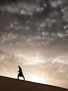 Sahara Desert, Egypt, 2011. Australian adventurer Tom Smitheringale.