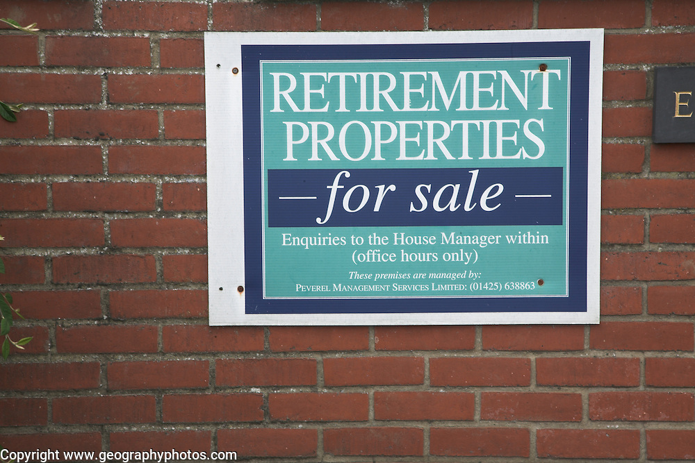 Retirement Properties for sale sign