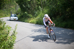 Anna van der Breggen (NED) of Rabo-Liv Cycling Team starts the descent during the Giro Rosa 2016 - Stage 7. A 21.9 km individual time trial from Albisola to Varazze, Italy on July 8th 2016.